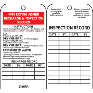 graphic relating to Printable Fire Extinguisher Inspection Tags known as Nationwide Marker RPT26 Hearth Extinguisher Inspection Background