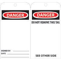 National Marker RPT30 Danger Tags, 25/Pk.