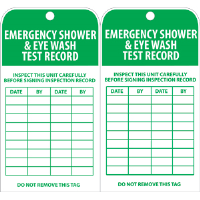 National Marker RPT37 Emergency Shower/Eye Inspection Tags, 25/Pk.