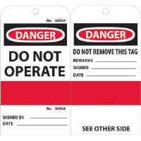 National Marker RPT499 Accident Prevention Tags, 25/Pk.