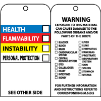 National Marker RPT76 Hazardous Materials Color Bar Tags (25)