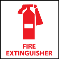 National Marker S21R Fire Extinguisher w/ Graphic Sign