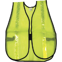 MCR Safety S220R General Purpose Lime Safety Vest w/ Lime Stripes