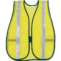 MCR Safety S220WR General Purpose Lime Safety Vest w/ White Stripes