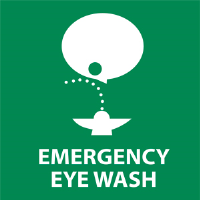 National Marker S50R Emergency Eye Wash Sign w/Graphic