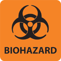 "National Marker S52RL 3"" x 3"" Biohazard Warning Labels, 500/Roll"