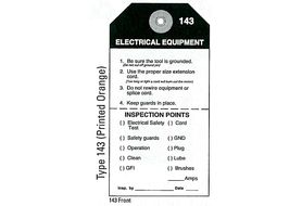 Sotcher 143 Electrical Equipment Service Tags