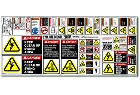 EXSS Equipment Safety Decals, Excavator Safety Sheet