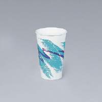Solo Cup 316JZJ 16 Ounce Jazz® Paper Hot Cups, Teal