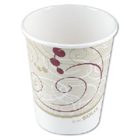 Solo Cup 410SMSYM 10 Ounce Symphony Squat Paper Hot Cups