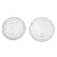 Solo Cup 662TS Straw Slot Cup Lids for TP9 / TP12
