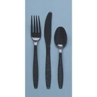 Solo Cup GDR7TS Guildware® Heavyweight Black Teaspoons, 10/100