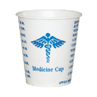 Solo Cup R3 Wax-Coated Paper Graduated Medicine Cups