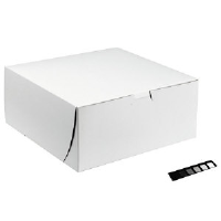 Southern Champion 0969 White Bakery Boxes, 10x10x2.5