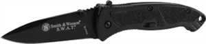 "Smith & Wesson SWATB 3.3"" MAGIC Assist Knife, Black"