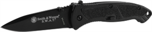 "Smith & Wesson SWATMB 4.3"" MAGIC Assist Knife, Black"