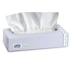 SCA TF6710A Tork Universal Facial Tissue Flat Box, 30/Cs.
