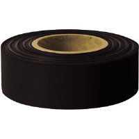 "Presco TFBK Taffeta Roll Flagging, Black, 1-3/16"" x 300', 12/Case"