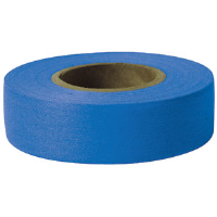 "Presco TFB Taffeta Roll Flagging, Blue, 1-3/16"" x 300', 12/Case"