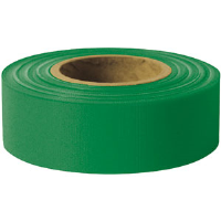 "Presco TFG Taffeta Roll Flagging, Green, 1-3/16"" x 300', 12/Case"