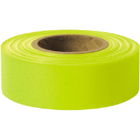 "Presco TFLG Taffeta Roll Flagging, Lime Glo, 1-3/16"" x 150', 12/Case"