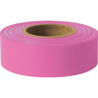 "Presco TFPG Taffeta Roll Flagging, Pink Glo, 1-3/16"" x 150', 12/Case"
