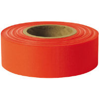 "Presco TFR Taffeta Roll Flagging, Red, 1-3/16"" x 300', 12/Case"