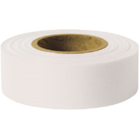 "Presco TFW Taffeta Roll Flagging, White, 1-3/16"" x 300', 12/Case"