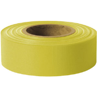 "Presco TFY Taffeta Roll Flagging, Yellow, 1-3/16"" x 300', 12/Case"