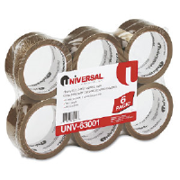 Universal Office Products 93001 Box Sealing Tape, 3.0 Mil, Tan