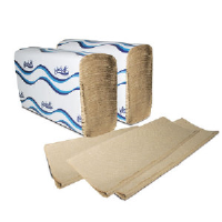Windsoft 106 Brown Single-Fold Towels, 16/250
