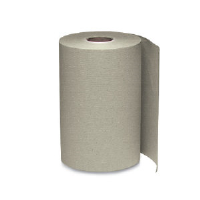 Windsoft 108 Nonperforated Hardwound Roll Towels, Brown, 12/350