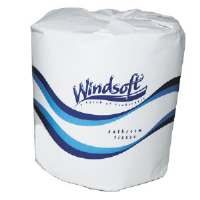 Windsoft 2210 Facial Quality 1 Ply Toilet Tissue, 1000 Sheets/Roll