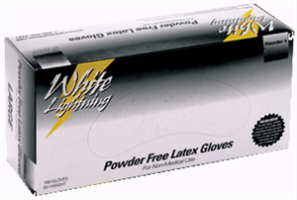 Lightning Gloves WL-M White Lightning Latex Gloves, Medium