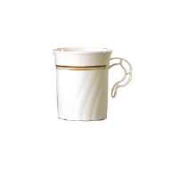WNA Inc. CWM8192IPREM Masterpiece™ Premiere Coffee Mugs, Ivory with Gold