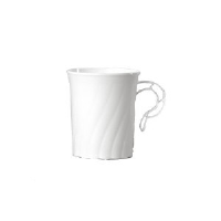 WNA Inc. CWM8192W Classicware® White Plastic Coffee Cups, 8 Ounce