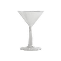 WNA Inc. MT696 Comet™ Plastic Martini Glass, Clear, 6 Ounce