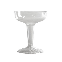 WNA Inc. SW4 Comet™ Clear Plastic Champagne Glasses, 4 Ounce