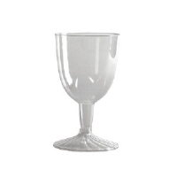 WNA Inc. SW5 Comet™ Clear Plastic Wine Glasses, 5 Ounce